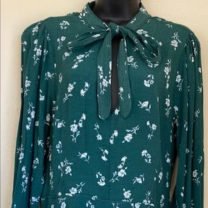 Green floral pattern dress from GB , long sleeves